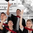 Stock Photo: Group of Graduating from College
