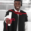 Man smilling at graduation — Stock Photo #10313211