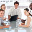 Young Multi Culutre Business Team at work — Stock Photo