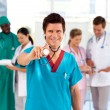 Medical team working in a hospital — Stock Photo #10313476