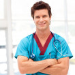 Portrait of a handsome male doctor looking at the camera — Stock Photo #10313507