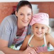 Mother and her daughter looking at the camera — Stock Photo #10314044