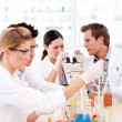 Scientists working in a laboratory — Stock Photo