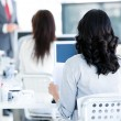 Business team listenning a presentation — Foto Stock