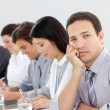 Bored businessman in a meeting — Stock Photo #10316367