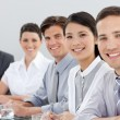 Stock Photo: Business group showing diversity in a meeting