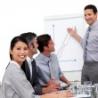Positive manager giving a presentation — Stock Photo #10316518