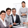 Stock Photo: Portrait of multi-ethnic business team during a presentation