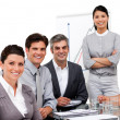 Portrait of multi-ethnic business team during a presentation — Stock Photo