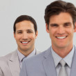 Two Business associates standing in a line — Stock Photo
