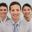 Stock Photo: Happy business group showing diversity