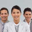 Multi-ethnic business standing together — Stock Photo