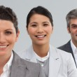 Confident business standing together — Stock Photo