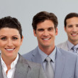 Confident Business team in a line — Stock Photo