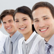 Stock Photo: Multi-ethnic business group smiling at the camera
