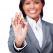 Royalty-Free Stock Photo: Success businesswoman showing OK sign