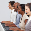 Customer business representatives at their computer — Stock Photo #10316965