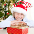 Adorable child celebrating christmas — Stock Photo #10317635