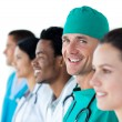 Royalty-Free Stock Photo: A diverse medical team standing together
