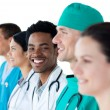 Stock Photo: International medical group standing together