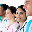 Royalty-Free Stock Photo: Medical showing diversity in a line