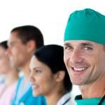 Surgeon smiling at the camera — Stock Photo