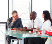 Business interacting in office — Stock Photo