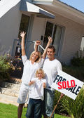 A family buying a house — Stock Photo