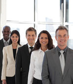 Young Happy Business team looking at camera — Stock Photo