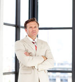 Senior business manager looking at the camera — Stock Photo