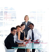 Business team working together in a meeting — Stock Photo