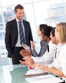 Business clapping after a presentation — Stock Photo