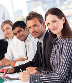 Confident business in a meeting — Stock Photo