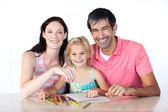父母和女儿图 — 图库照片