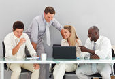 Business interacting in a meeting — Stock Photo