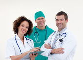 Team of doctors looking at the camera — Stock Photo