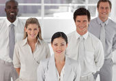 Smiling positive busines Group — Stock Photo