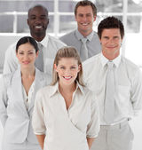 Business Group of Five looking at camera — Stock Photo