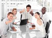 Business Team Celebrating Success — Stock Photo