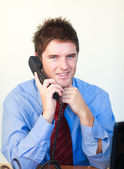 Handsome businessperson talking on the phone — Stock Photo