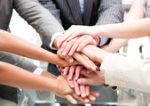 Close-up of a multi-ethnic partners — Stock Photo