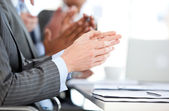 Close-up of a businessteam applauding a presentation — Stock Photo