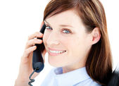 Beautiful businesswoman on the phone — Stock Photo
