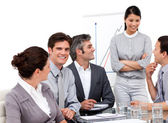 Portrait of successful business team during a presentation — Stock Photo