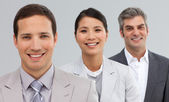 International Business partners standing in a line — Stock Photo