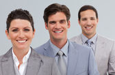 Young Business partners standing in a line — Stock Photo