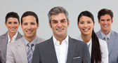 Multi-ethnic business team standing together — Stock Photo