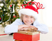Adorable child celebrating christmas — Stock Photo