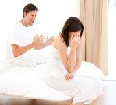 Furious couple having an argument — Stock Photo