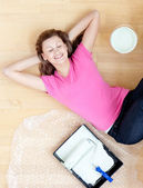 Caucasianwoman have a break — Stock Photo
